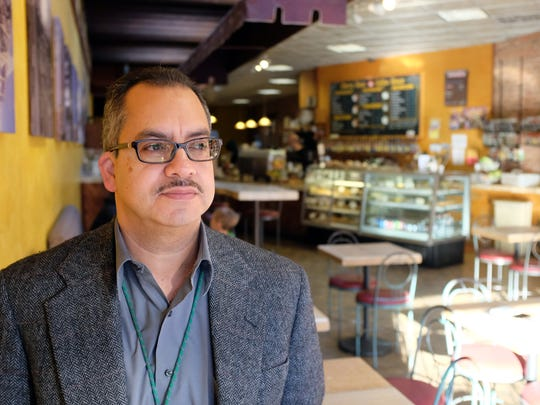 Faustino Orejel, photographed at the Cherry Bean in Salinas on Thursday, March 17th. Orejel had quintuple-bypass heart surgery in 2014.