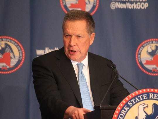 Governor John Kasich speaks at the 2016 NYS GOP Annual