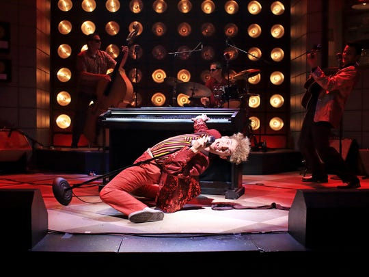 "Nat Zegree as Jerry Lee Lewis in ""Million Dollar Quartet,"""