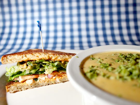 Gluten free dishes like the veggie sandwich and broccoli cheddar soup at Mama's Deli.