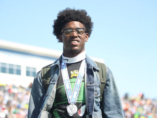 Lincoln senior Raekwon Archer was second in triple jump by an inch, settling for a silver medal.