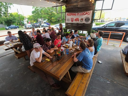 Co-owner and general manager, Chris Clark at Pig & Pint in Fondren was excited to hear about the new policy MSDH put in place allowing pet dogs to be on restaurant patios.