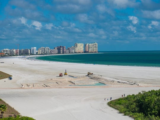 Looking south from South Seas condo tower No. 4 on