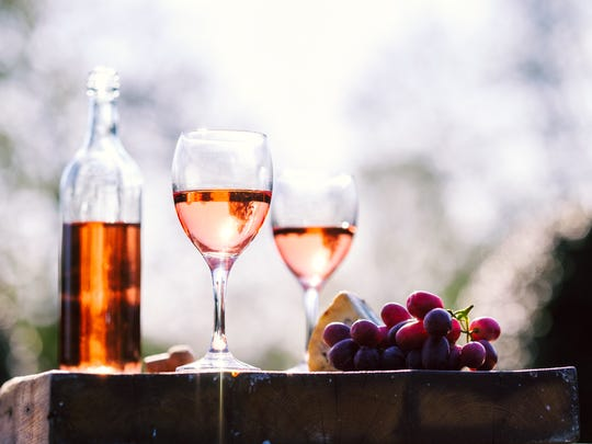 Rose wine is especially popular during the hot summer