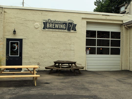 The exterior of Darkness Brewing, which is located