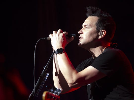 Mark Hoppus performs with Blink-182 at the Ak-Chin