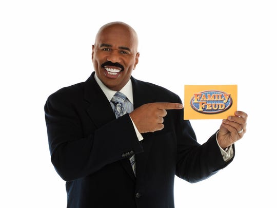 "Steve Harvey, ""Family Feud"" host."