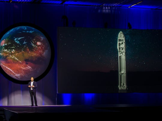 Tesla Motors CEO Elon Musk speaks about the Interplanetary Transport System which aims to reach Mars with the first human crew in history.