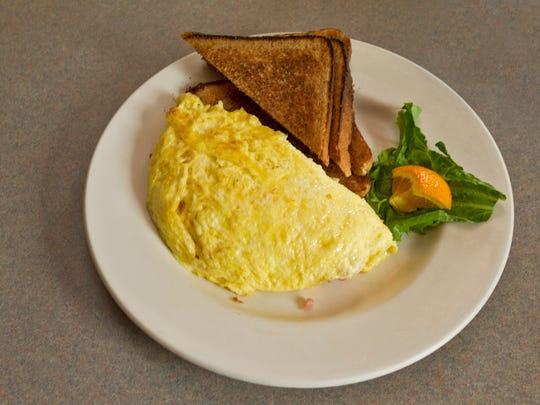 Egg omelet at Rosie's in Middlebury, Vt.
