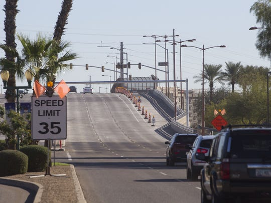 The Bell Road/Grand Avenue overpass opened in 2016 after 8 months of heavy construction and road closures.