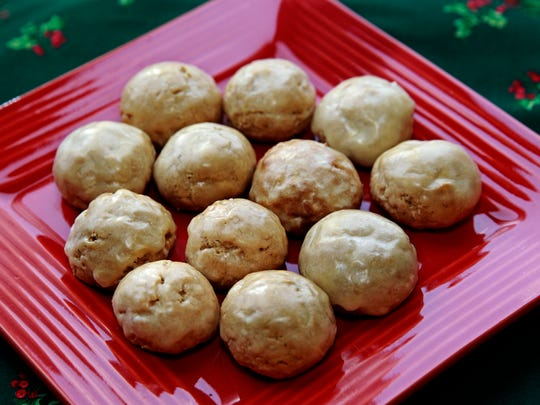 These iced spice cookies, pfeffernüsse, are a German Christmas classic.