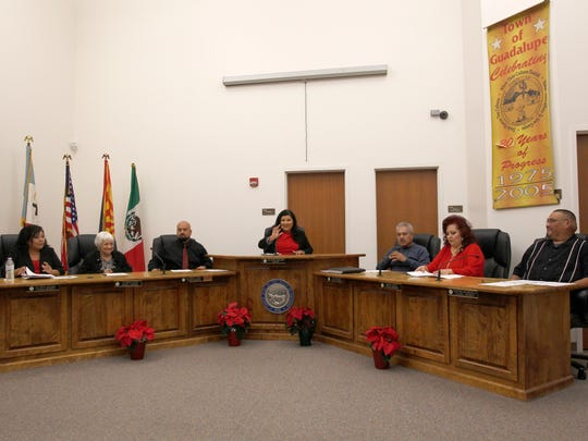 The town of Guadalupe swore in a new mayor and three