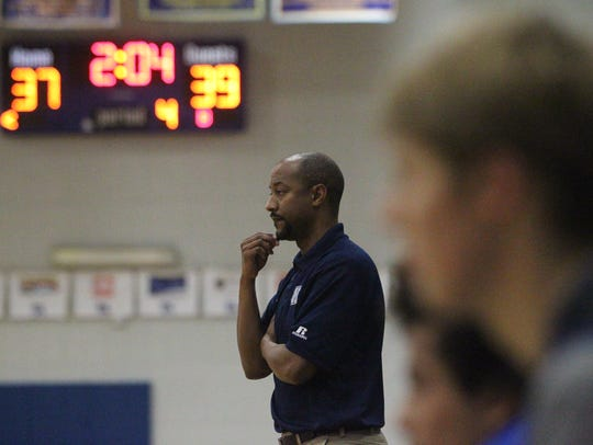 Maclay coach Gene Granger watches anxiously as his