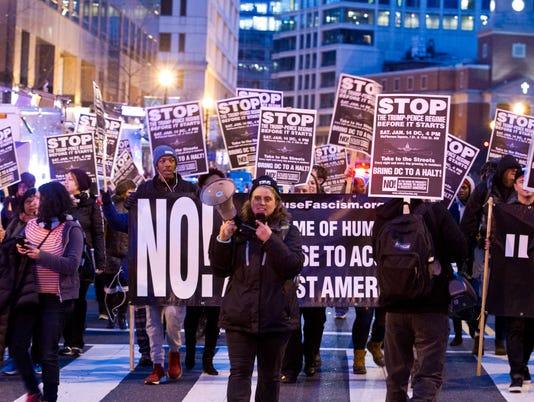 AP TRUMP PROTESTS DC A USA DC