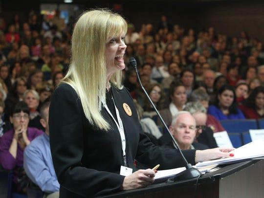 Pleasantville Schools Superintendent Mary Fox-Alter.
