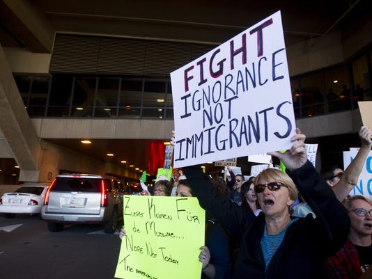 Trump immigration airport protest