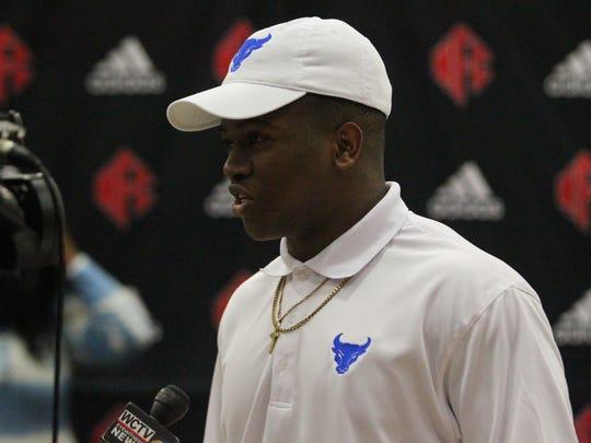 NFC linebacker Jay Harrison signed Division-I to play at the University of Buffalo.