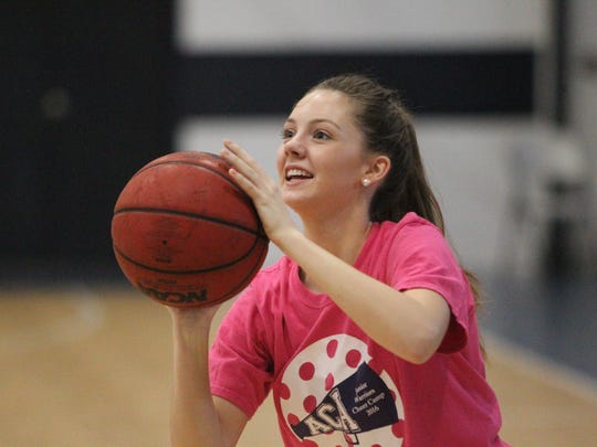 Aucilla Christian's Jessica Giddens takes a 3-pointer during practice on Tuesday.