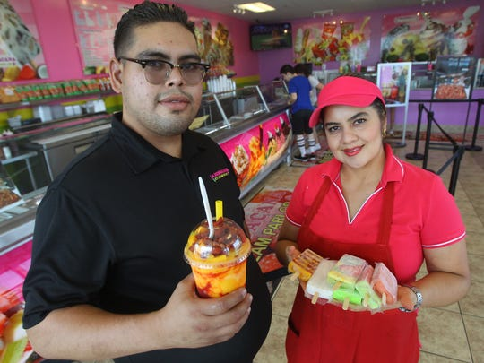 Jose Bermudez and Lily Bermudez are part of the family owned business La Michoacana Ice Cream Parlor in Cathedral City. The parlor offers many of the Mexican flavors and specialties you would only find south of the border.