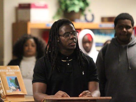 Jefferson County's Zoron Wade addresses the room of