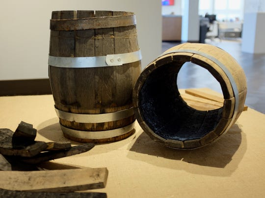 Cynthia Main makes barrels as an exploration of non-plastic food packaging and storage.