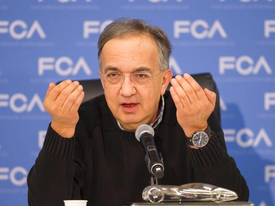 Fiat Chrysler CEO Sergio Marchionne..