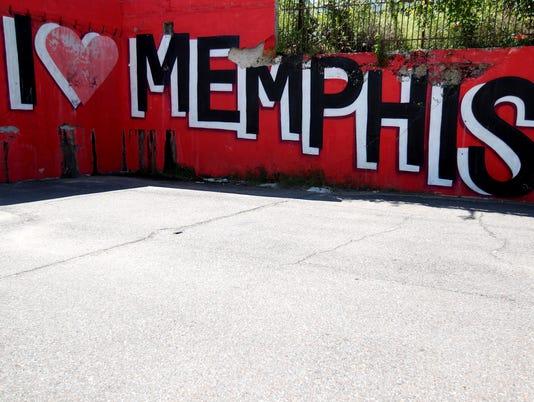 """I Love Memphis"" mural"