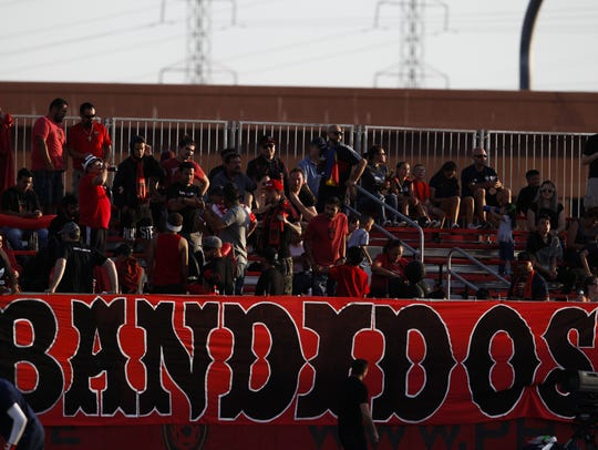 Fans of Phoenix Rising FC fill the stands before a