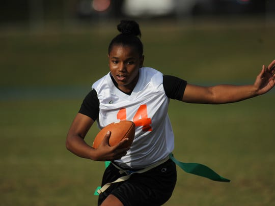 Flag football district semifinals, Chiles vs. FAMU DRS