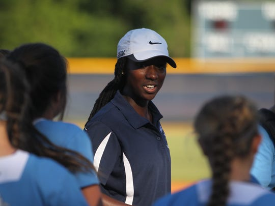 Maclay coach Tera Gainer is all smiles after her Marauders softball team beat NFC 6-4 in the regional final to advance to the state tournament for the first time since 1995.