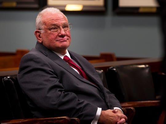 Former judge Tim Nolan attends an arraignment for additional