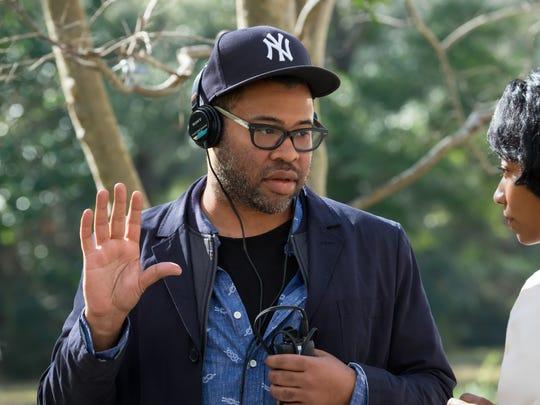 Writer/director/producer Jordan Peele on the set of