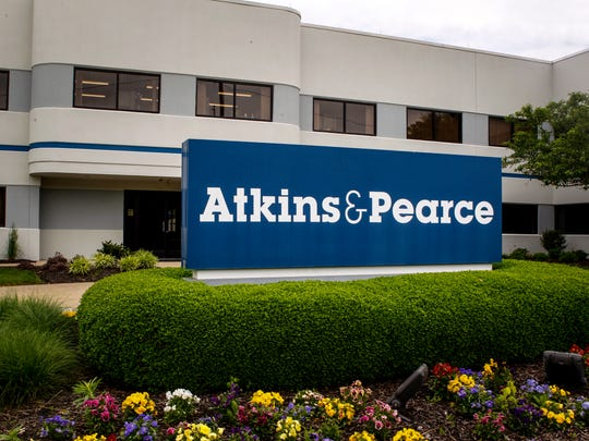 The entrance to Northern Kentucky textile manufacturer Atkins & Pearce Monday, May 22, 2017. The company will celebrate its 200th anniversary this year.