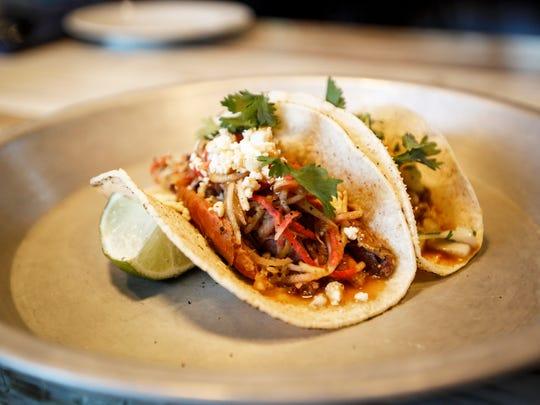 Smoked duck confit tacos at Casa Figueroa in Pleasant Ridge Friday, June 9, 2017.