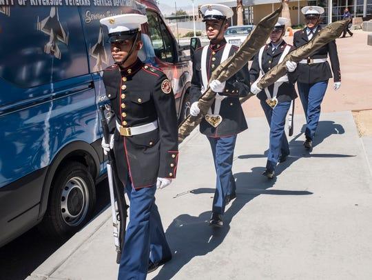 Members of the Desert Hot Springs Junior ROTC Color