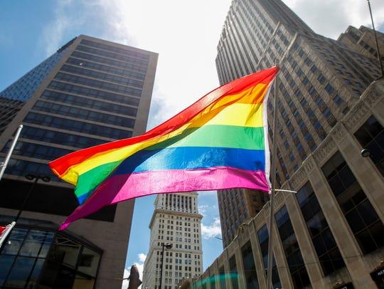 Thousands attend the 2017 Cincinnati Pride Parade Saturday,