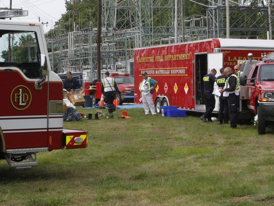 Local emergency response agencies turned out Wednesday