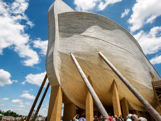Thousands of people visit the Ark Encounter Tuesday,