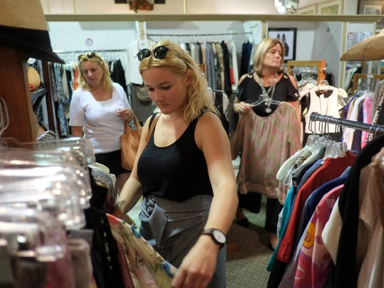 Kristy Pavlick of Yorktown Heights shops for an item
