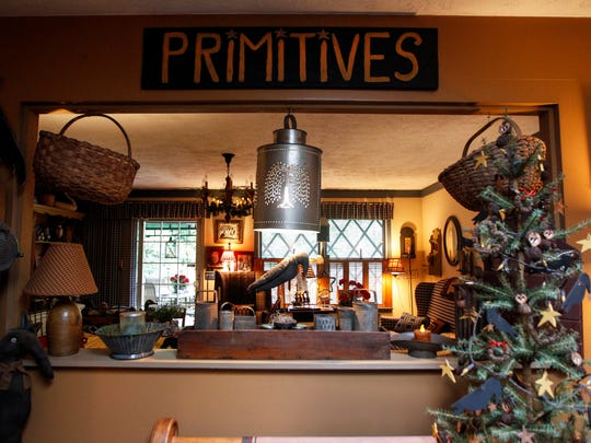 Primitive decorations at the home of Margie and Bill Ellis Tuesday, July 11, 2017 in Georgetown.