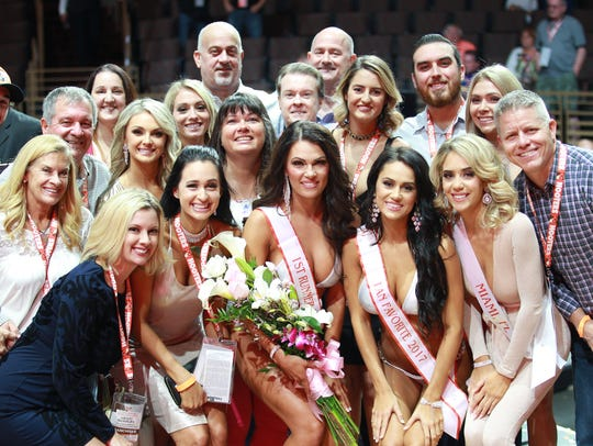 Women who competed in the 21st Annual Hooters International