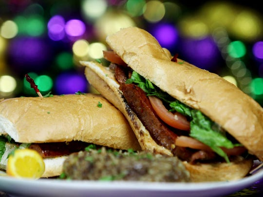 The Po-Boys at Mardi Gras Memphis are served on french