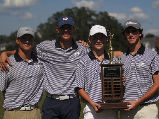 The Maclay boys golf team captured a Big Bend title