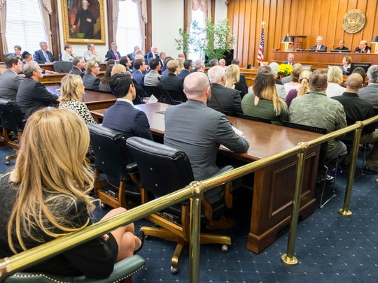 Attendants fill the second floor courtroom of the federal building in Port Huron for the dedication ceremony of a plaque honoring Judge Lawrence P. Zatkoff, Oct. 2. Zatkoff is remembered for his contributions to the restoration of the building when he moved his courtroom from downtown Detroit to Port Huron.