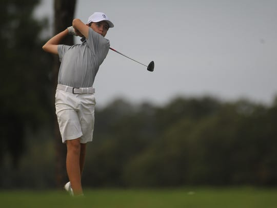 Maclay's Patrick McCann plays during Monday's City