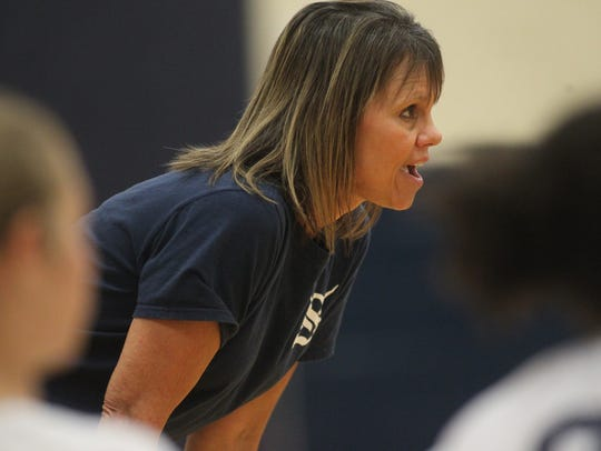 Sneads volleyball coach Sheila Roberts, co-director