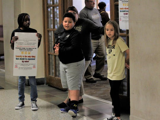 Amelia Earhart Elementary School fourth-graders spent Tuesday morning encouraging diversity at Purdue University.