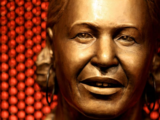 May 5, 2015 - A bronze bust of Memphis Minnie by Julie Edgar is on display at The Blues Music Hall of Fame on South Main. The museum opens with a preview on Thursday and will be open to the public on Friday. (Mike Brown/The Commercial Appeal)