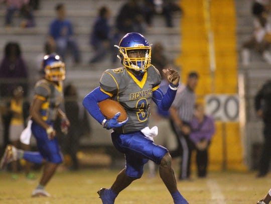 Rickards quarterback Marcus Riley ran for 150 yards