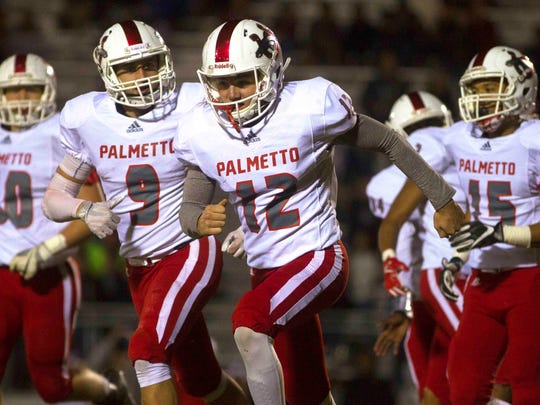 Palmetto played against Seneca Friday night in the second round of the state playoffs in Seneca.